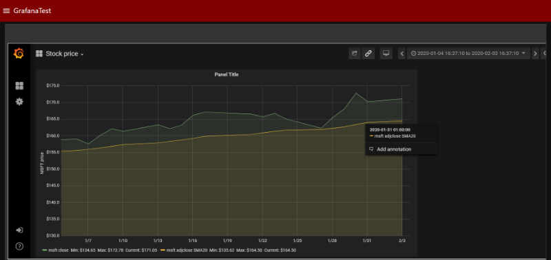 How to use Alpha Vantage, PostgreSQL and Grafana to display stock prices in Node-RED