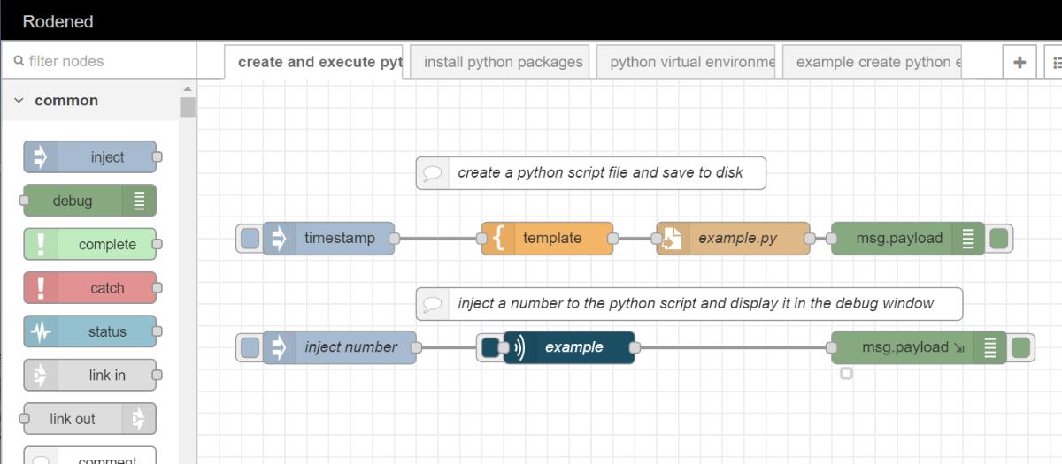 execute python file